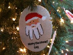How To Make Santa Handprint Holiday Ornaments — The How To Mommy