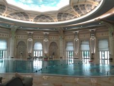 Pool at the Ritz--men only....
