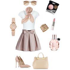 "A ""natural"" Sunday morning! Sunday Morning, White Tees, Mini Skirts, Fashion Looks, Natural, Polyvore, Shopping, Image, Mini Skirt"