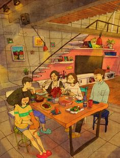Friends Have Come Over by Puuung