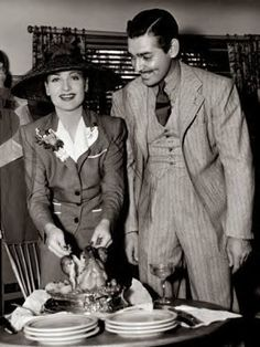 Carole Lombard and Clark Gable, so sad she died too young in a plane crash.