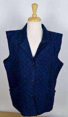 Cabelas Women's 2XL Navy Blue Quilted Vest #Cabelas