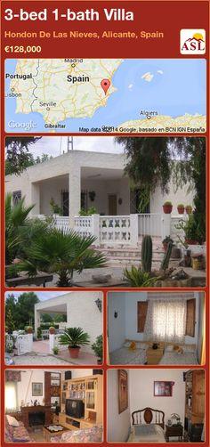 3-bed 1-bath Villa in Hondon De Las Nieves, Alicante, Spain ►€128,000 #PropertyForSaleInSpain