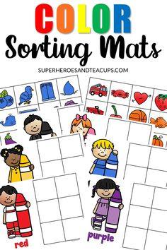 Preschool Colors, Teaching Colors, Free Preschool, Preschool Printables, Preschool Lessons, Free Printables, Color Sorting For Toddlers, Colors For Toddlers, Sorting Colors