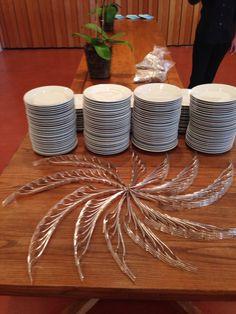 Fun buffet silverware arrangement