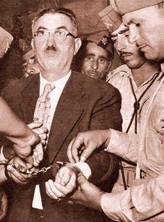 المقال : مؤسس الدبلوماسية العراقية .  الصورة : رئيس الوزراء الدكتور (محمد فاضل الجمالي) للفترة من 1953 - 1954 . مقيداً بالسلاسل بعد إنقلاب تموز عام 1958 . [يقول يونس بحري في مذكراته :- عندما جاؤوا بالجمالي إلى السجن في القاعة التي كنت أول من سجن بها سألته عن صحة ما سمعته عنه في أنهم قتلوك وسحلوك في بغداد قال لي بلهجته الساخرة :لقد شبه لهم ولكن ياليتهم فعلوا ذلك على الأقل لكنت قد تخلصت من الآم الضرب والتعذيب التي تعرضت لها. انظر إلى هذه الكدمات والجروح التي في جسدي من جراء ضربي بأخمص البنادق Iraqi People, Baghdad Iraq, Owl City, State Of The Union, Important People, Historical Pictures, Old Photos, The Past, Politics