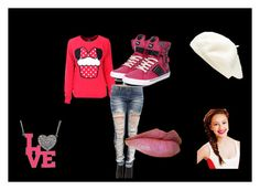 """""""Pretty In Pink!"""" by shante-nicolee ❤ liked on Polyvore featuring art"""