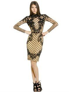 Beaded Silk Dress on shopstyle.com