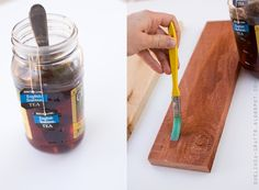 Craftaholics Anonymous® | DIY How to Age or Weather Wood Tutorial Using Vinegar, Tea and Steel Wool