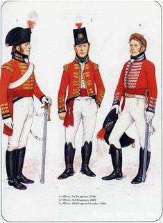 1_Officer, 1st Dragons, 1799 2_Officer, 3rd Dragons, 1800 3_Officer,4th Dragons Guards1806