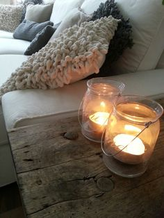 rustic farmhouse or lake house lakehouse, rustic wood end table, lots of neutrals and texture, love this!