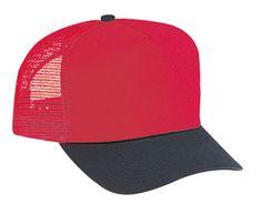 edb43cc879e Cotton Twill Five Panel Pro Style Mesh Back Caps-------
