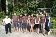 The team in front of Gaia Hotel and Reserve in Manuel Antonio.