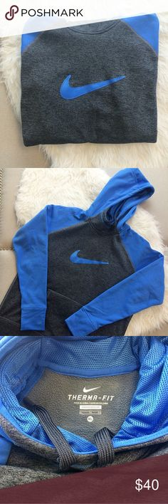 Nike Hoodie Therma-Fit hoodie. Super warm and comfy! Thumbholes on sleeve cuffs. Used maybe twice. True to size. No trades. Nike Tops Sweatshirts & Hoodies