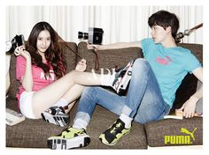 Krystal and Ahn Jae Hyeon for Puma Spring 2014 campaign