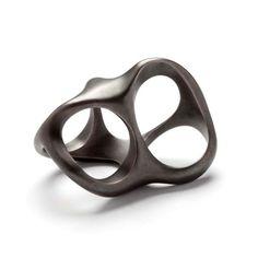 3-in-one ring. Black silver.Design Emquies-Holstein