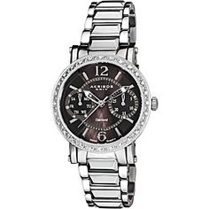 @Overstock - This Akribos XXIV stainless steel luxury watch is a great addition to your collection with its remarkable diamond dial design. This elegant timepiece is powered by a fine Swiss ISA 9231/1890 quartz movement.http://www.overstock.com/Jewelry-Watches/Akribos-XXIV-Womens-Diamond-Swiss-Steel-Day-Date-Watch/5498097/product.html?CID=214117 $128.99
