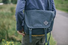 Millican bags strip away superfluities to provide raw, durable products for the introspective journeyer. The Millican Nick Messenger Bag 13L in Slate is designed to fit the life of someone on the road