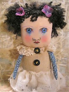 Katie art doll  by Sandy Mastroni, via Flickr