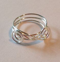 Silver Plated Ring by Dragonfaery1 on Etsy, $6.00