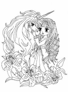 anime princess fairies artist elena yalcin anime asian art manga coloring pages pinterest anime princess and adult coloring