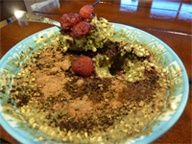 """nutiva.com -  This """"Jello"""" breakfast concoction can include Hemp Protein, Coconut Manna, and Chia Seeds. The possibilities are endless so try this recipe and then try your own combination! Don't let its looks fool you - this is delicious! #breakfast #jello #hemp #coconut #chia #protein"""