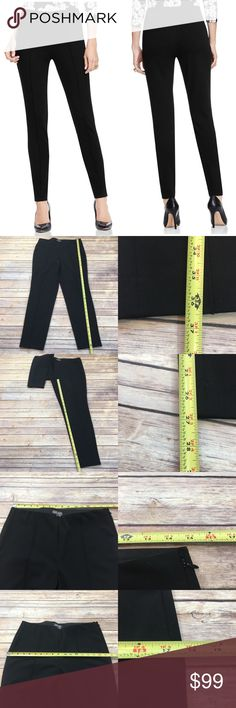 💫Size 10P Vince Camuto Slim Fit Front Seam Pants Measurements are in photos. Normal wash wear, no flaws. E1  I do not comment to my buyers after purchases, do to their privacy. If you would like any reassurance after your purchase that I did receive your order, please feel free to comment on the listing and I will promptly respond. I ship everyday and I always package safely. Thanks! Vince Camuto Pants Skinny