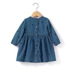 Robe en jean léger imprimé R Baby | La Redoute