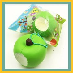 Grtsunsea Squishy Toy Fruit Slow Rising Phone Strap Pendent Charm Bag Decor Gift, Size: About Green Cute Squishies, Kids Toys, Rabbit, Coconut, Packaging, Kawaii, Christmas Ornaments, The Originals, Holiday Decor