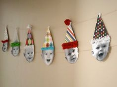 Birthday Party Garland-perhaps start tradition and add new picture from each b-day year