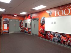 Whether you're looking for school logo signs, large wall murals, locker signs or motivational signs, GameDay Vision of Brunswick, OH can offer you the best. Locker Signs, Floor Graphics, Large Wall Murals, Future Trends, Logo Sign, College Campus, School Decorations, Environmental Graphics, Athletics