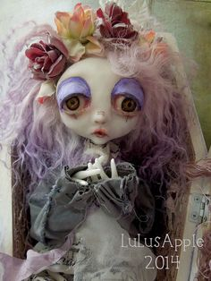 Ellendre's Gloom Art Doll Gothic coffin sad OOAK on Etsy, Sold