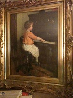 Simon Glucklich(1863-1943) Girl at Piano -  I have this print, very rare, love it!