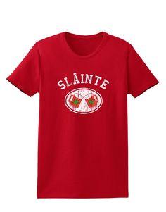 Slainte - St. Patrick's Day Irish Cheers Womens Dark T-Shirt by TooLoud