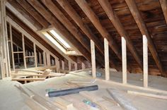 Read the Bennett's diary about creating extra living space by converting their loft into a new room. If you need roof windows for your loft conversion, feel free to contact us for advice on the best window for your budget: . Garage Attic, Attic Playroom, Attic Loft, Loft Room, Attic Office, Attic Spaces, Attic Rooms, Attic Bathroom, Attic Shower