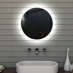 Ideal Badezimmerspiegel Badspiegel Wandspiegel LED Beleuchtung rund cm Mle