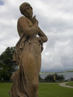 A statue in the beautiful gardens of Bantry House.