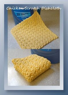 Our Chicken Scratch Dishcloth is so easy to work up and another blend  of pretty…