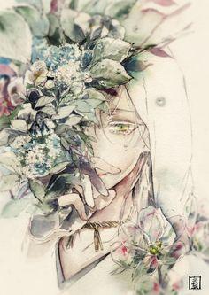 Why are you crying,tsuru-kun? Touken Ranbu, Manga Art, Manga Anime, Manga Watercolor, Estilo Anime, Anime Artwork, Kawaii, Japanese Art, Neko