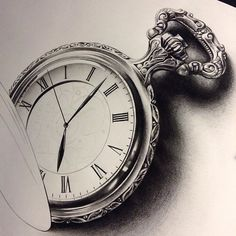 Got this pocket watch ready for my appointment tomorrow. Got some more personal projects I will be working on, excited to make progress on those! Thanks for looking #pocketwatch #tattoo #pocketwatchtattoo #realism #blackandgrey #ornate #filigree #detail #create #art #artist #artoftheday #draw #drawing #drawingoftheday #tattoolife #tattoospooky #time #sketch