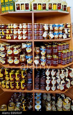 Local honey, at the local market in Eleftherias square. Market Hall, Local Honey, The Locals, Kos, Islands, Greece, Stock Photos, Marketing, Greece Country