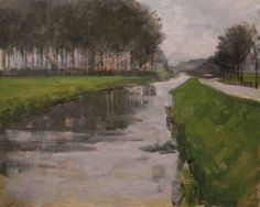 Watch it, sharp turn. Lathum, Holland. -- Rene PleinAir