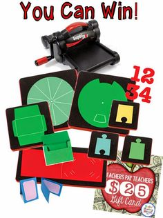 Rockin' Teacher Materials: Ellison Die Cutter Fun & Giveaway! See how Hilary uses an assortment of dies and a personal die cutting machine in her classroom.