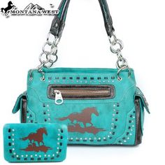 Montana West Cow Girl Horse Animal Print Handbag in Turquoise Rhinestone Gemstone Studded Woven Western Shoulder Purse with Wallet click on the picture to see it on amazon $49.99 + $9.99 shipping see more great bags at http://www.ddsgiftshop.com/shoes-and-handbags