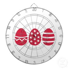 Easter eggs dartboard with darts