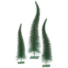 3 Piece Glitter Curved Christmas Tree Set