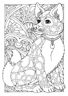 Coloring Page Dog Zentangle