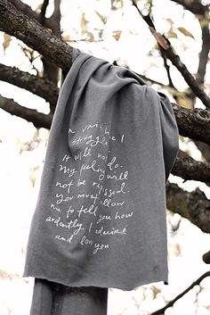 Gracious I would overwear this. // Mr Darcy proposal scarf  Jane Austen by Brookish on Etsy, $22.00
