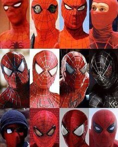The Evolution of Cinematic Spidey!  Good night webheads!  Thanks to @stark_is for the pic! by the_sensational_spiderman