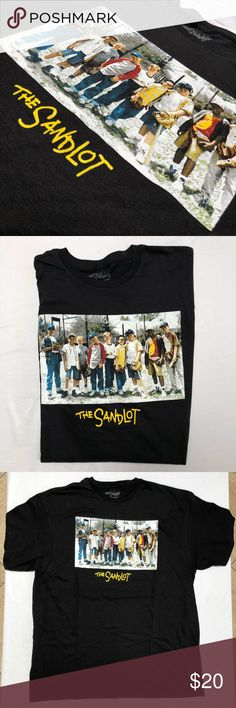 NWOT MENS THE SANDLOT T-SHIRT MENS SIZE XL BRAND NEW OFFICIALLY LICENSED THE SANDLOT TEE SHIRT MENS SIZE XL ships same or next day from my smoke free home.   PRICE is FIRM, offers will be considered through the offer button only. Bundle items to save. ✨   100% authentic NO TAGS the sandlot Shirts Tees - Short Sleeve